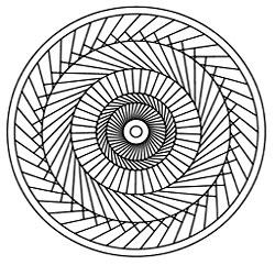 рис. 5. Третья стадия. «Лабиринт. Спирали. Вихрь»